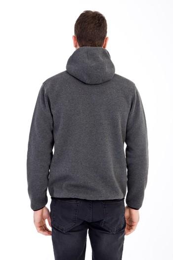 Erkek Giyim - Kapüşonlu Outdoor Sweatshirt