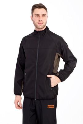 Erkek Giyim - SİYAH XXL Beden Outdoor Softshell Mont