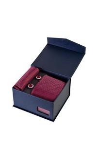 Erkek Giyim - 3'lü Kravat Mendil Kol Düğmesi Set