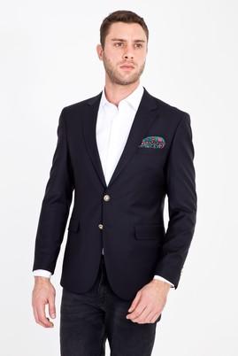 Erkek Giyim - LACİVERT 46 Beden Slim Fit Blazer Ceket