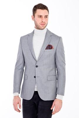 Erkek Giyim - AÇIK GRİ 48 Beden Balıksırtı Ceket