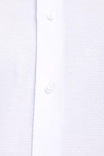 Erkek Giyim - Uzun Kol Desenli Manşetli Gömlek
