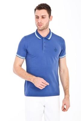 Erkek Giyim - İNDİGO S Beden Polo Yaka Nakışlı Slim Fit Tişört
