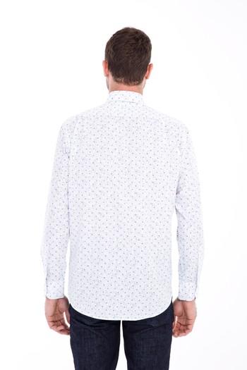 Erkek Giyim - Uzun Kol Regular Fit Baskılı Gömlek