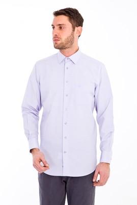 Erkek Giyim - LİLA M Beden Uzun Kol Desenli Klasik Gömlek