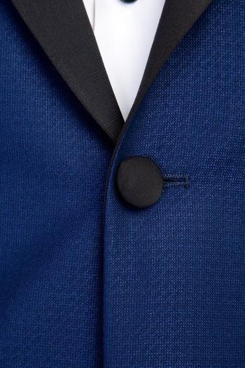Erkek Giyim - Mono Yaka Desenli Smokin / Damatlık