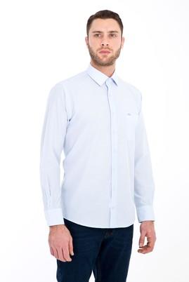 Erkek Giyim - AÇIK MAVİ 3X Beden Uzun Kol Klasik Gömlek