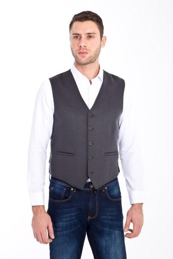 Erkek Giyim - Klasik Yünlü Yelek