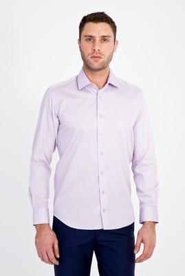 Erkek Giyim - LİLA XS Beden Uzun Kol Non Iron Saten Slim Fit Gömlek