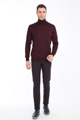 Erkek Giyim - ANTRASİT 52 Beden Slim Fit Desenli Spor Pantolon