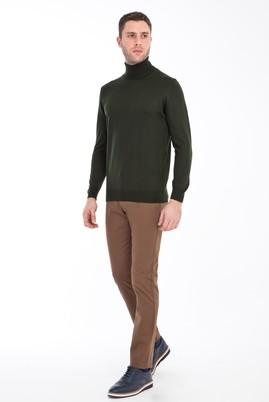 Erkek Giyim - AÇIK KAHVE - CAMEL 54 Beden Slim Fit Desenli Spor Pantolon