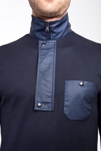 Erkek Giyim - Bato Yaka Fermuarlı Sweatshirt