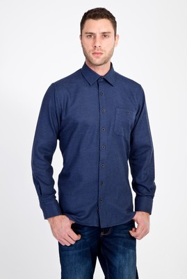 Erkek Giyim - MAVİ L Beden Uzun Kol Oduncu Gömlek