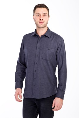 Erkek Giyim - FÜME GRİ 3X Beden Uzun Kol Oduncu Gömlek