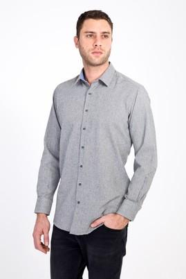 Erkek Giyim - SİYAH 3X Beden Uzun Kol Kuşgözü Oduncu Gömlek