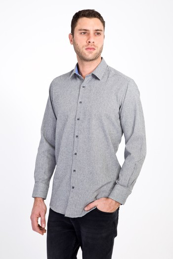 Erkek Giyim - Uzun Kol Regular Fit Kuşgözü Oduncu Gömlek