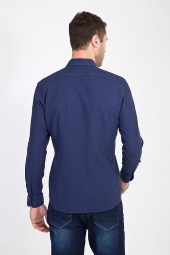 Erkek Giyim - Uzun Kol Spor Waffle Gömlek