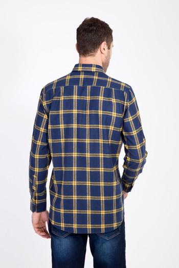 Erkek Giyim - Uzun Kol Regular Fit Ekose Oduncu Gömlek