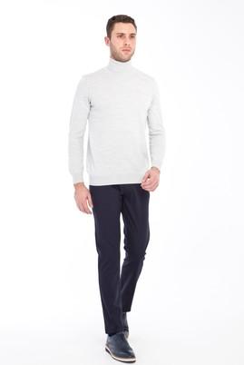 Erkek Giyim - LACİVERT 58 Beden Desenli Spor Pantolon