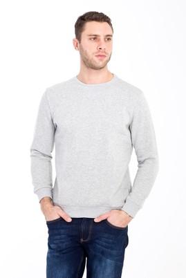 Erkek Giyim - ORTA FÜME XL Beden Bisiklet Yaka Sweatshirt