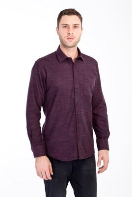Erkek Giyim - BORDO XL Beden Uzun Kol Oduncu Gömlek