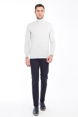 Erkek Giyim - LACİVERT 52 Beden Slim Fit Spor Pantolon