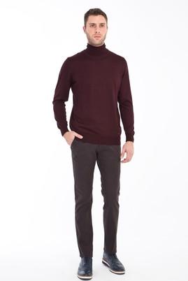 Erkek Giyim - KOYU KAHVE 52 Beden Slim Fit Spor Pantolon