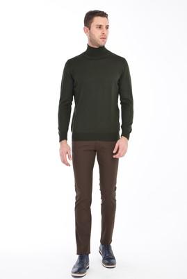 Erkek Giyim - HAKİ 46 Beden Slim Fit Kuşgözü Spor Pantolon