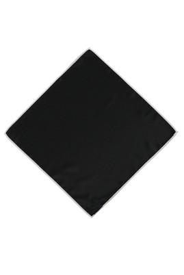 Erkek Giyim - Siyah STD Beden Düz Saten Mendil