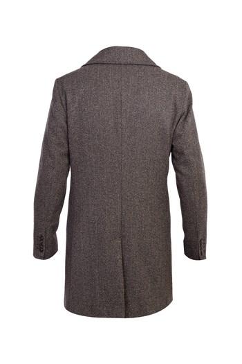 Erkek Giyim - İtalyan Desenli Yünlü Kaban