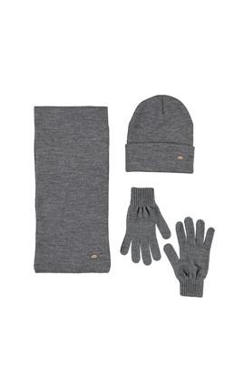 Erkek Giyim - AÇIK FÜME  Beden Atkı&Bere&Eldiven Takımı