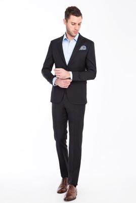 Erkek Giyim - Siyah 54 Beden Yünlü Takım Elbise