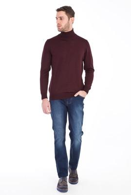 Erkek Giyim - LACİVERT 50 Beden Denim Pantolon