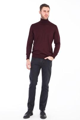 Erkek Giyim - FÜME GRİ 50 Beden Slim Fit Denim Pantolon