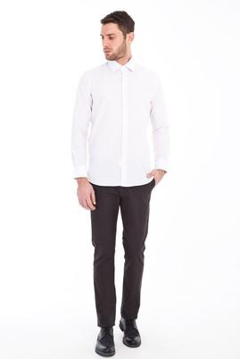 Erkek Giyim - FÜME GRİ 52 Beden Slim Fit Spor Desenli Pantolon