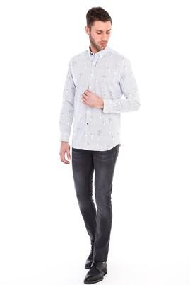 Erkek Giyim - ORTA FÜME 46 Beden Slim Fit Denim Pantolon
