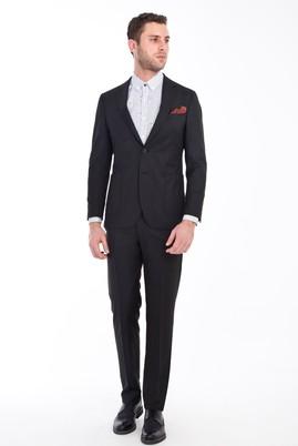 Erkek Giyim - SİYAH 46 Beden Slim Fit Yıkanabilir Takım Elbise