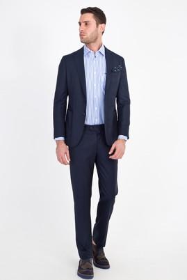 Erkek Giyim - LACİVERT 46 Beden Slim Fit Yıkanabilir Takım Elbise