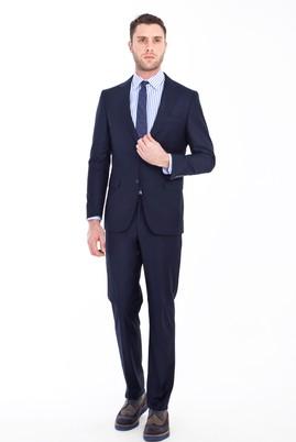 Erkek Giyim - KOYU MAVİ 46 Beden Klasik Takım Elbise