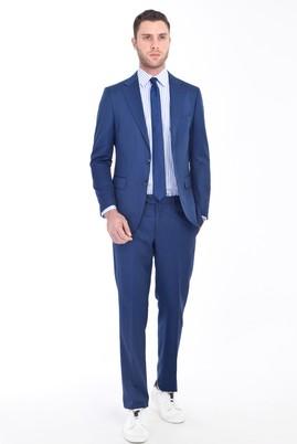 Erkek Giyim - MAVİ 48 Beden Kuşgözü Takım Elbise