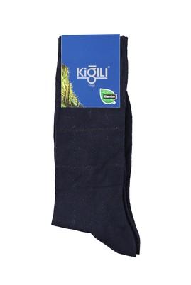 Erkek Giyim - MAVİ 39 Beden Bambu Desenli Çorap