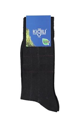 Erkek Giyim - FÜME GRİ 42 Beden Bambu Desenli Çorap