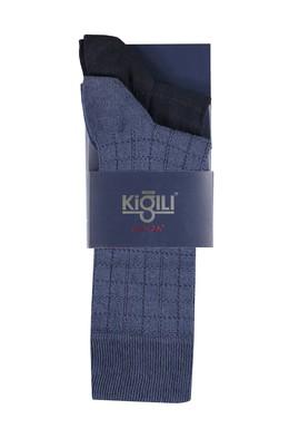 Erkek Giyim - MAVİ 39 Beden 2'li Desenli Çorap