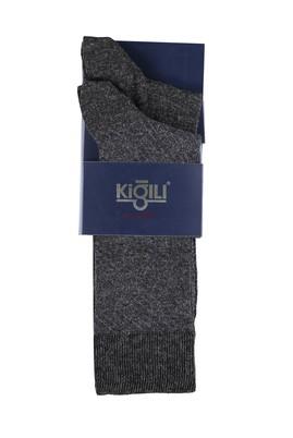 Erkek Giyim - ANTRASİT 39 Beden 2'li Desenli Çorap