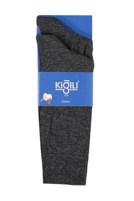 Erkek Giyim - ANTRASİT 42 Beden 2'li Düz Çorap