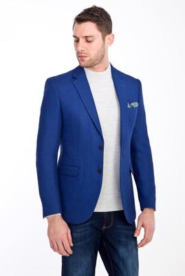 Erkek Giyim - MAVİ 46 Beden Klasik Desenli Ceket