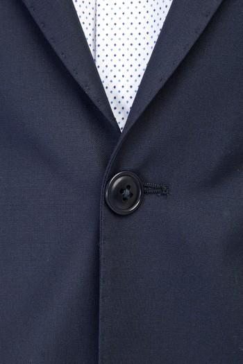 Erkek Giyim - Süper Slim Fit Yünlü Takım Elbise