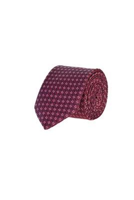 Erkek Giyim - BORDO 165 Beden İnce Desenli Kravat