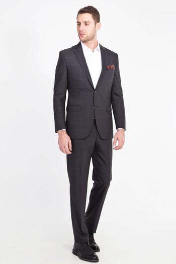 Erkek Giyim - Kareli Yünlü Takım Elbise
