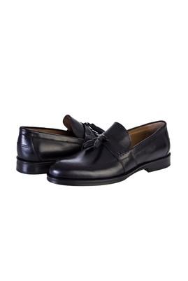 Erkek Giyim - SİYAH 40 Beden Püsküllü Klasik Deri Ayakkabı
